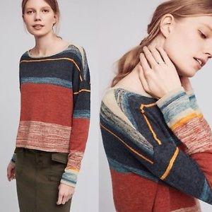 ANTHROPOLOGIE Samedi Sweater Linen Blend by Moth